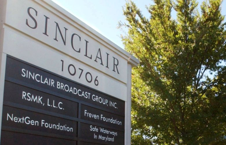 FILE – In this Oct. 12, 2004, file photo, Sinclair Broadcast Group, Inc.'s headquarters stands in Hunt Valley, Md. Sinclair Broadcast Group said Monday, Oct. 18, 2021, that it's suffered a data breach and is still working to determine what information the data contained. The Baltimore company owns and/or operates 21 regional sports network and owns, operates and/or provides services to 185 television stations in 86 markets.(AP Photo/Steve Ruark, File) NY152 NY152