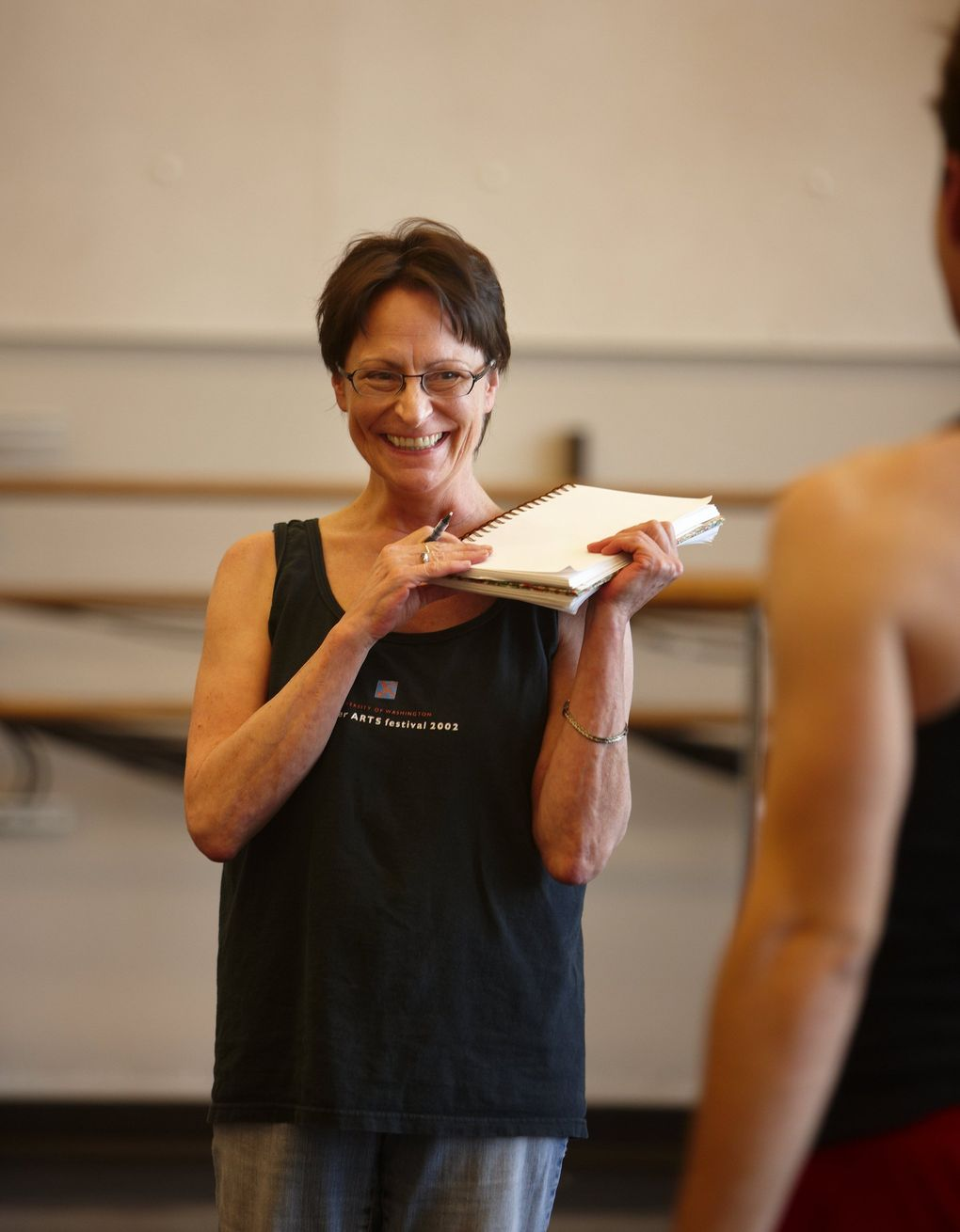 Hannah C. Wiley, director of Chamber Dance Company at the University of Washington. (Benjamin Benschneider / The Seattle Times, 2009)