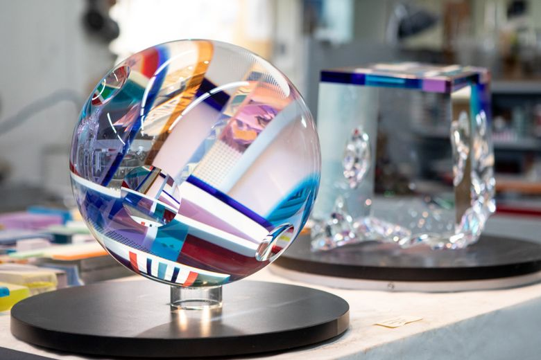 The Refract glass art festival takes place Oct. 14-17, with more than 50 events in Seattle, Tacoma, Issaquah, Everett and Bainbridge Island. Shown here is a work by David Huchthausen. (Megan Swann Photography)